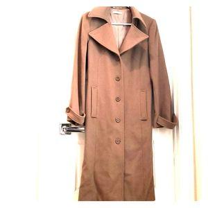 H&M -Wool Midi Length Peacoat- Brown